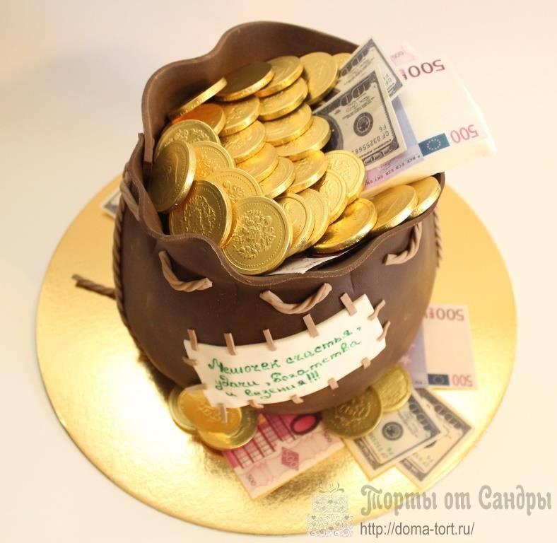 окуня торт мешок с деньгами из мастики фото них